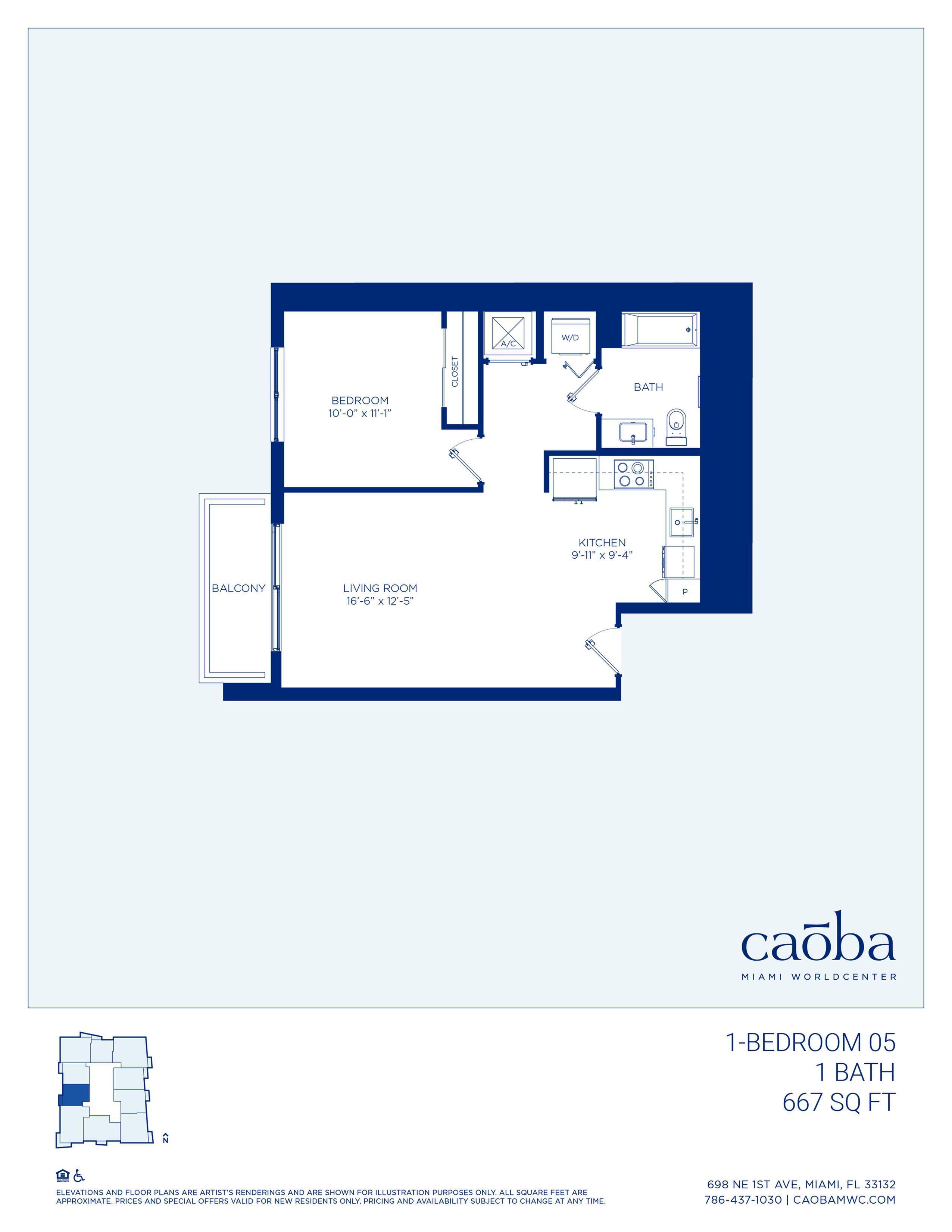 Miami Caoba Floorplan - 1-04