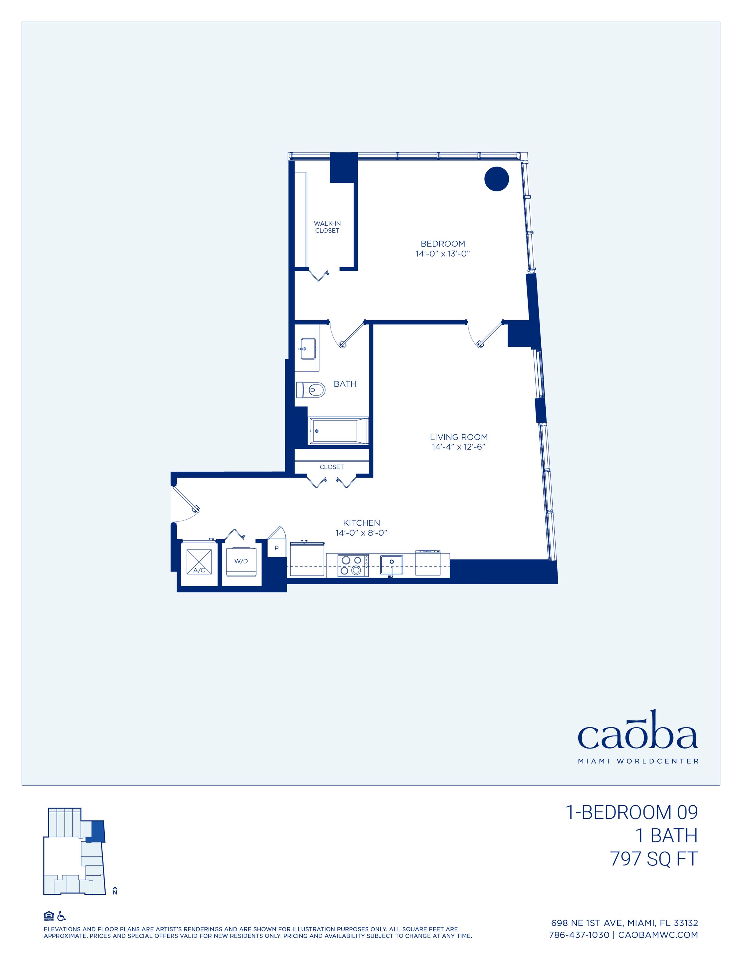 Miami Caoba Floorplan - 1-09