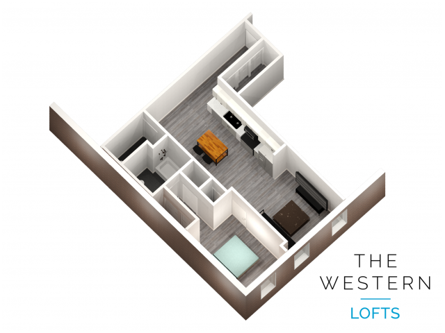1 bedroom 1.5 bathroom at The Western