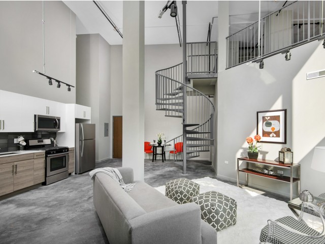 2 Bed + Loft with Spiral Staircase