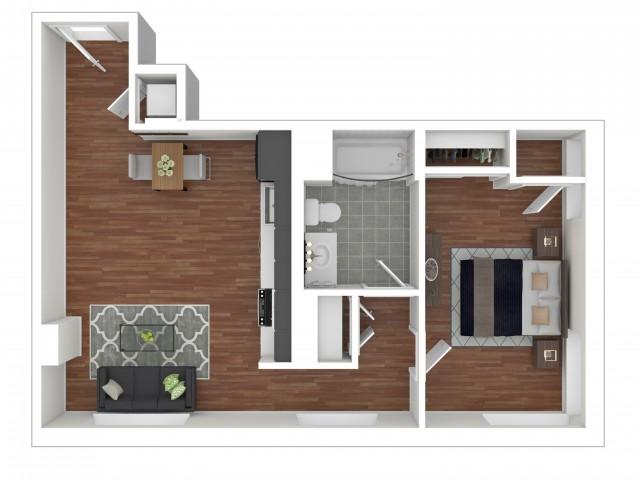 One Bedroom 1-C