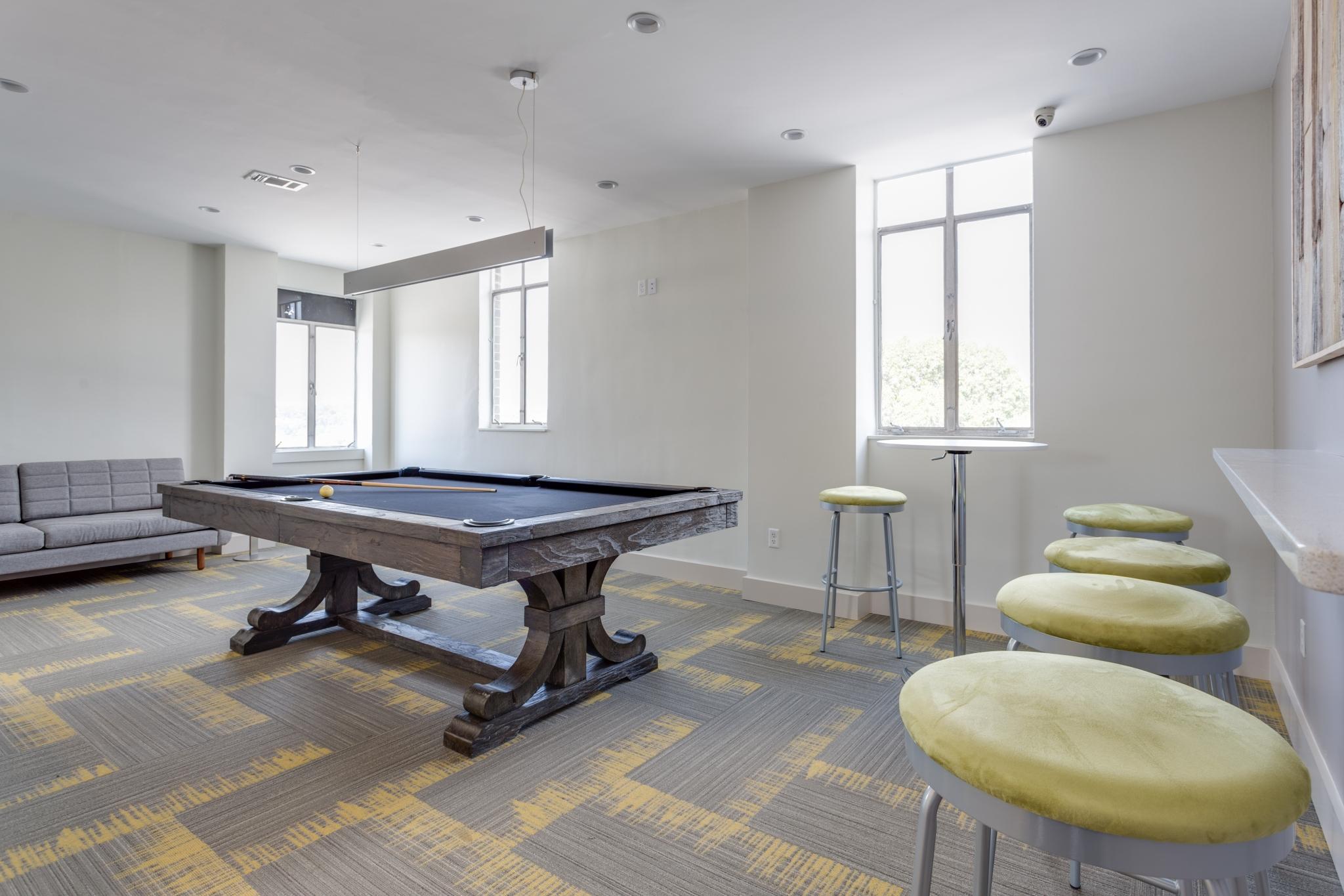 Game room at Park East Apartments in Adams Morgan