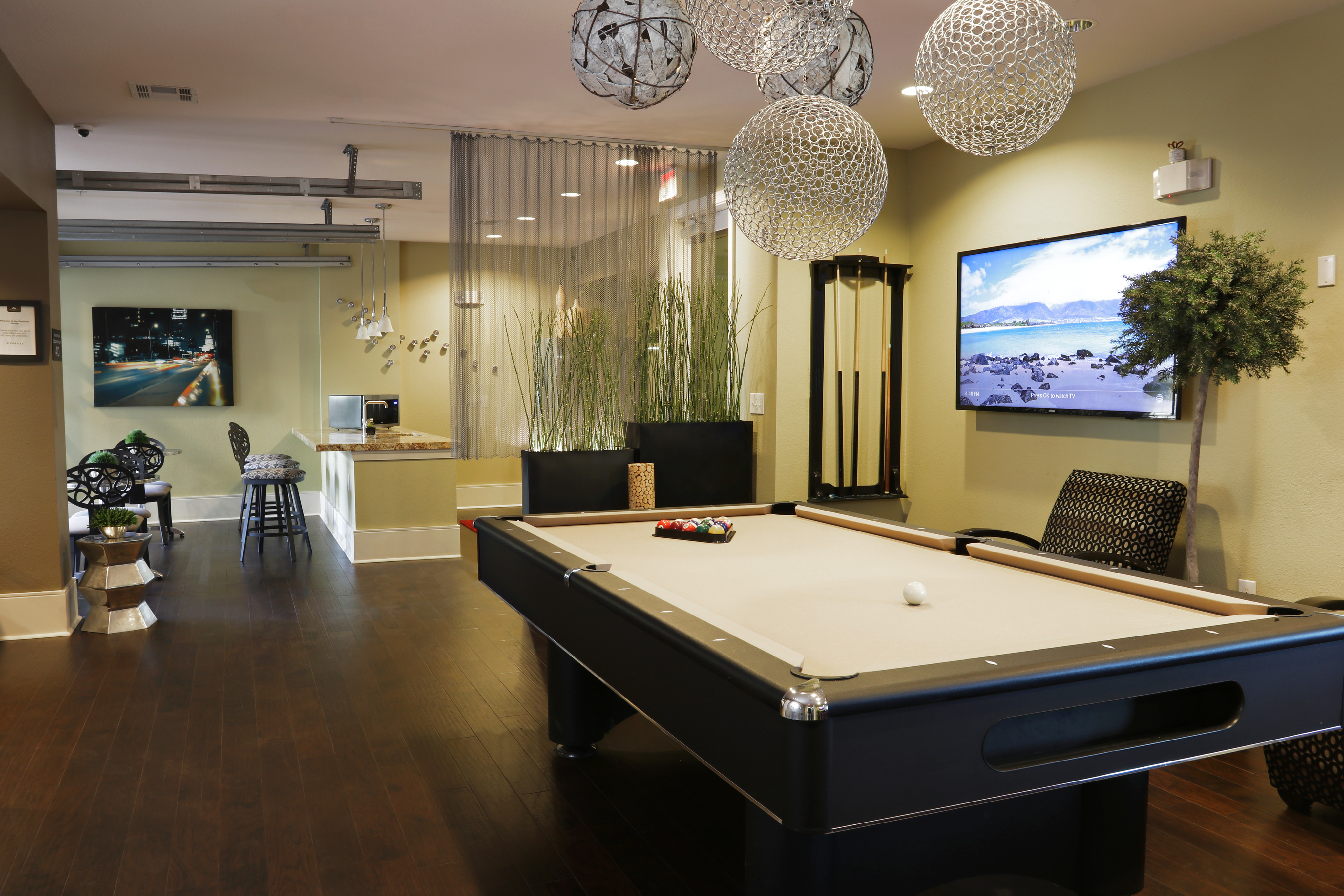 Billiards in Club Room