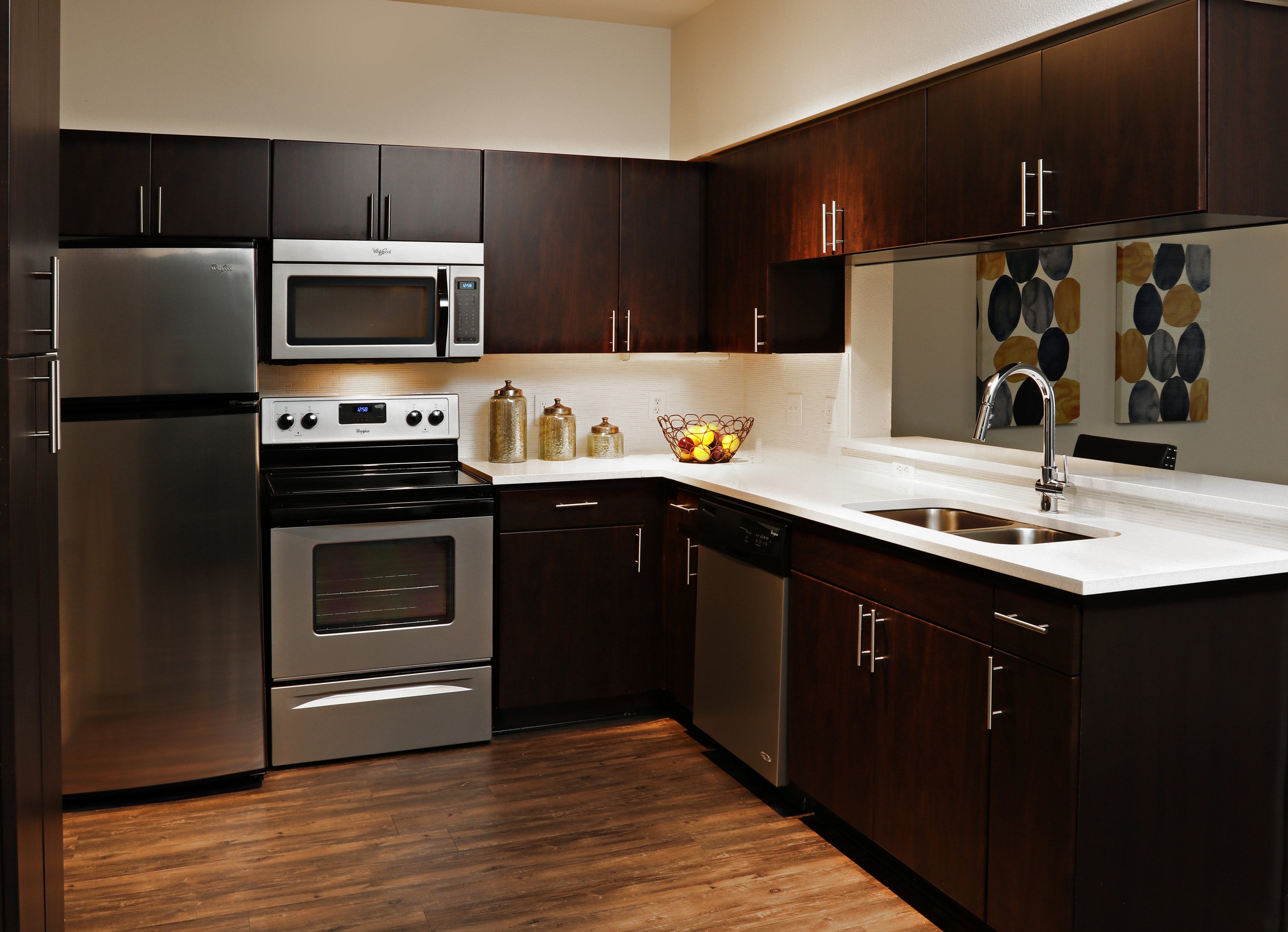 Image of Dark espresso cabinetry for Lennox West Village