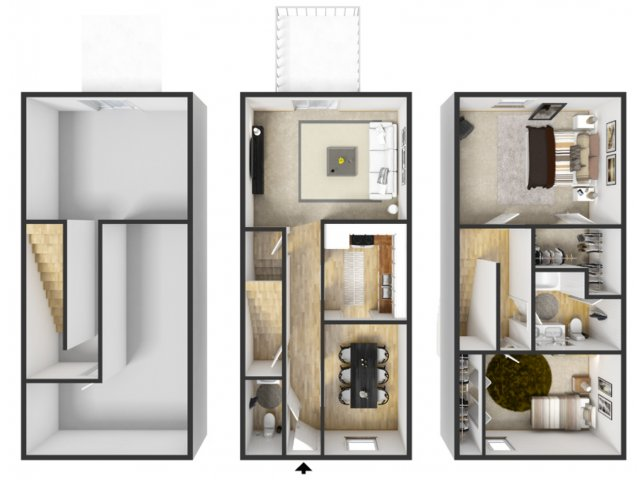 2 bedroom 1 5 bath townhouse for 1 bed 1 5 bath