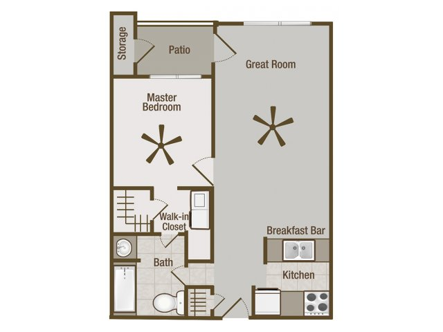 Picture is Metropolitan One Bedroom Floor Plan