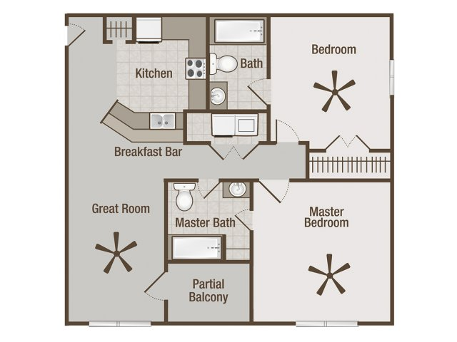Picture is James Two Bedroom Floor Plan