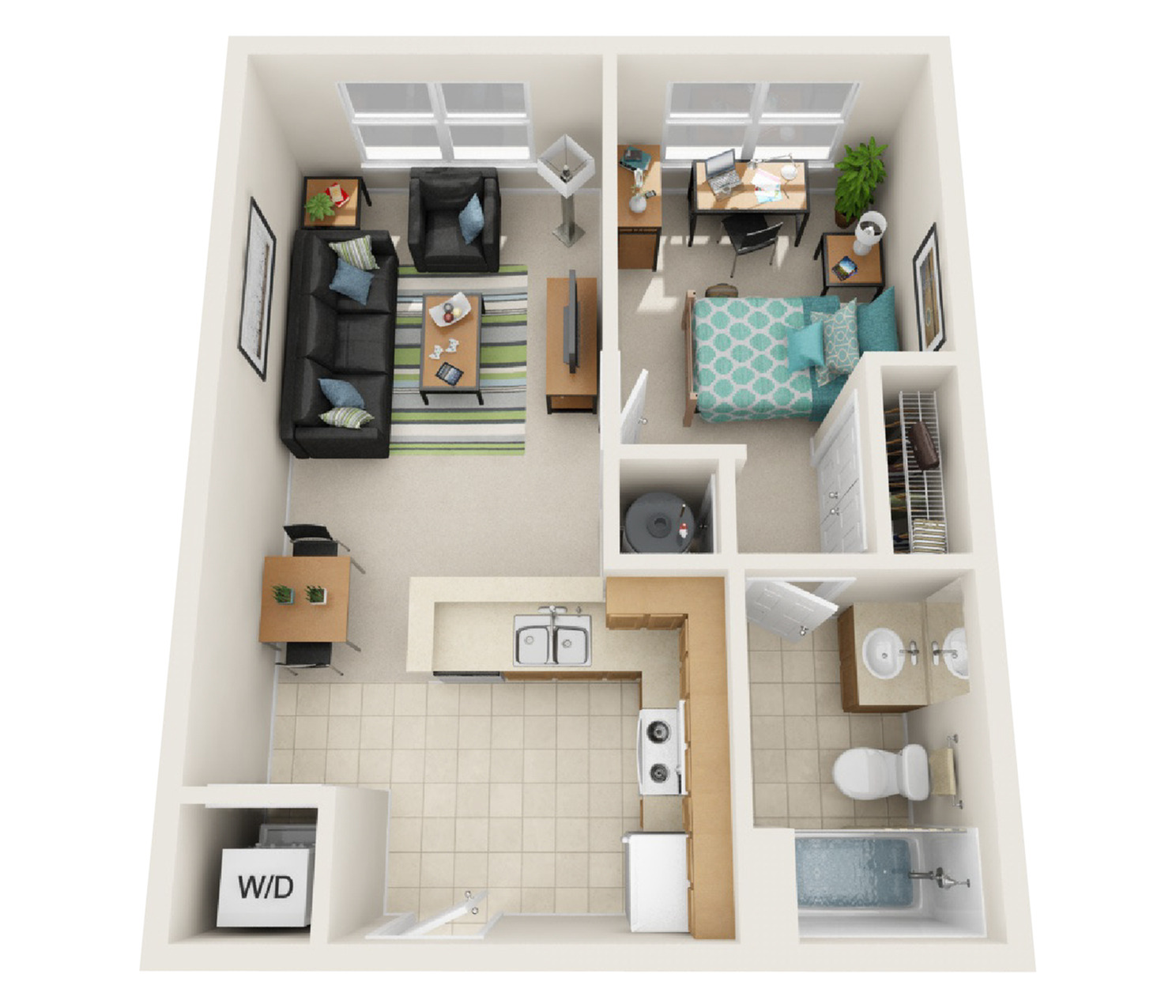 1 Bedroom Standard Floor Plan