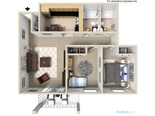 B3 2x2 Bedroom