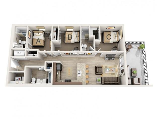 3 Bedroom B