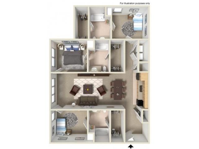 3br 3ba 3 bed apartment the reserve 3br 3ba