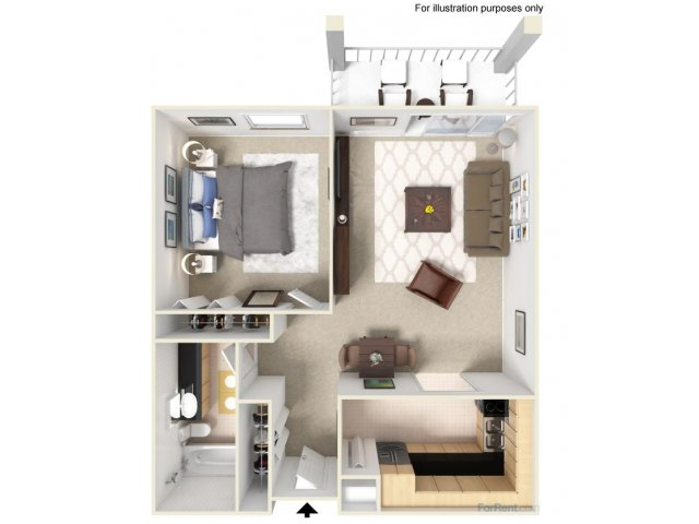 A2 1x1 Bedroom- ONLY ONE UPGRADED UNIT LEFT!