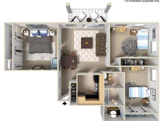 B5 3x1.5 Bedroom