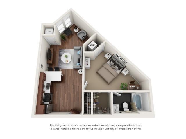 1x1A Floor Plan