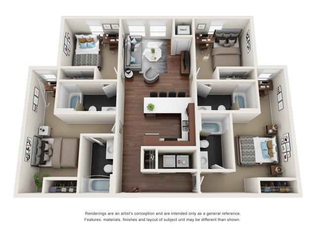 Studio - 4 Bed Apartments | WaHu