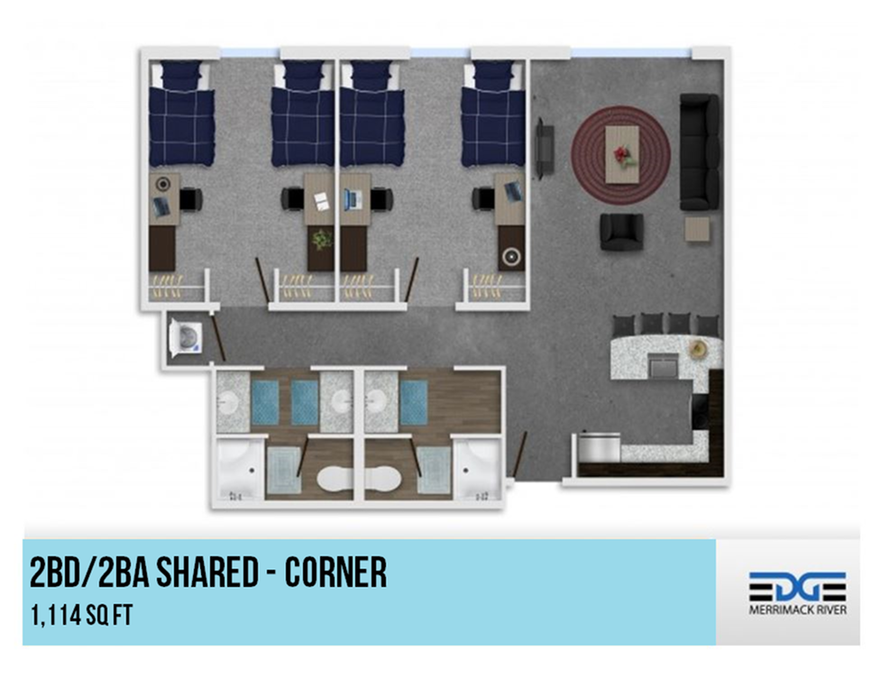2x2 - Shared Corner