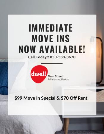 dwell Tenn Street: Spacious Tallahassee Student Apartments