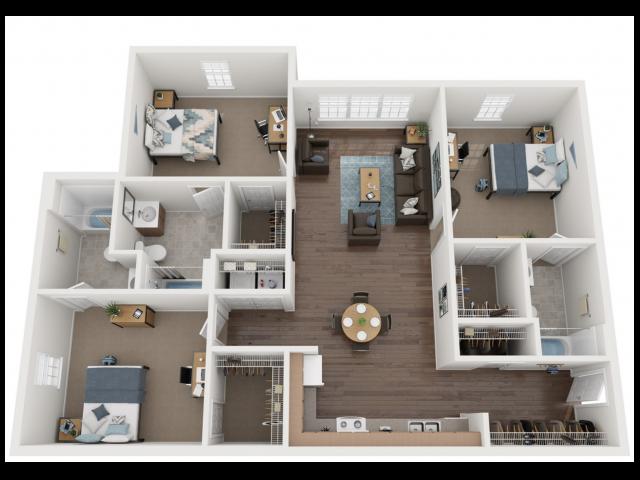 3x3 flooring