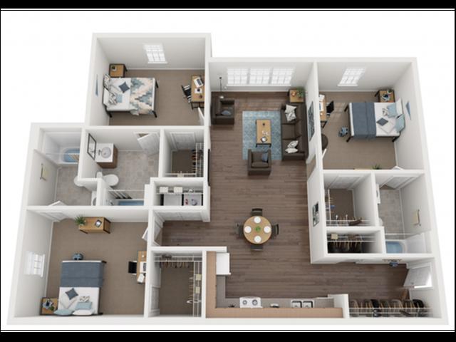 2x3 Bonus Room