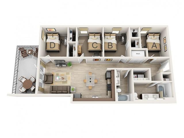 4 Bedroom B
