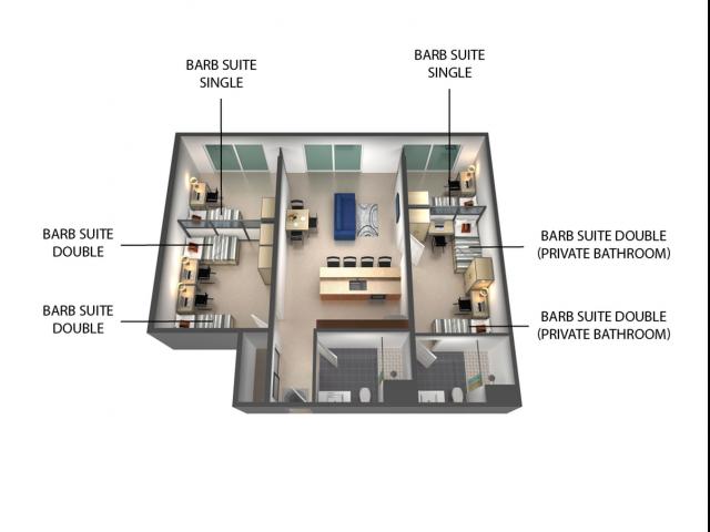 2x2 Barb Suite