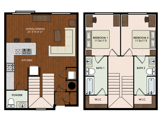 2BR/2.5BA - Townhome