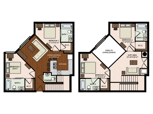 4BR/4BA - Townhome w/ Loft