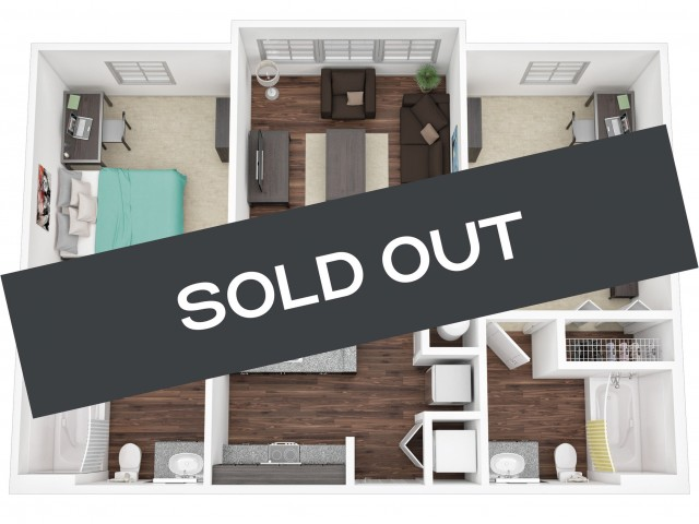 Two Bedroom / Two Bathroom sold out
