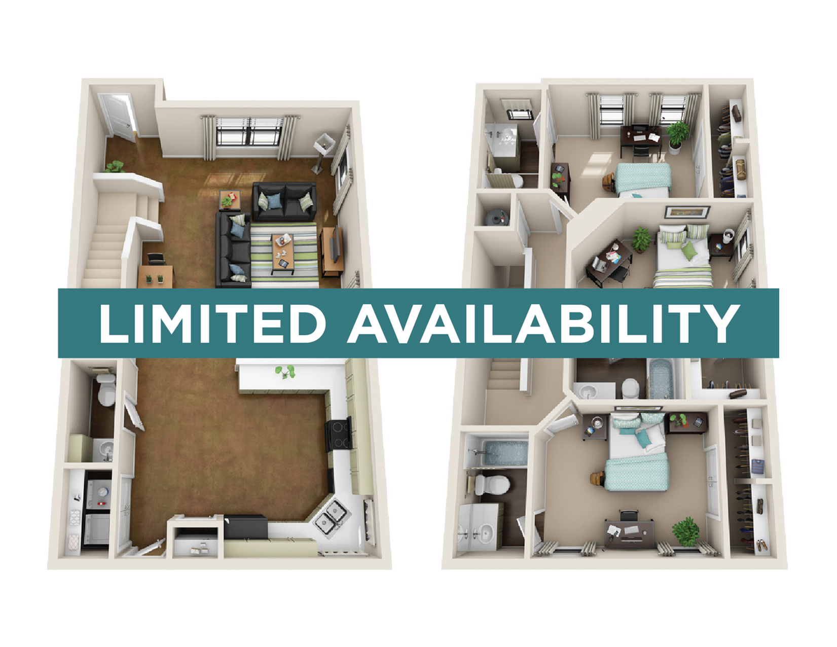 3BR/3.5BA - Furnished - limited availability