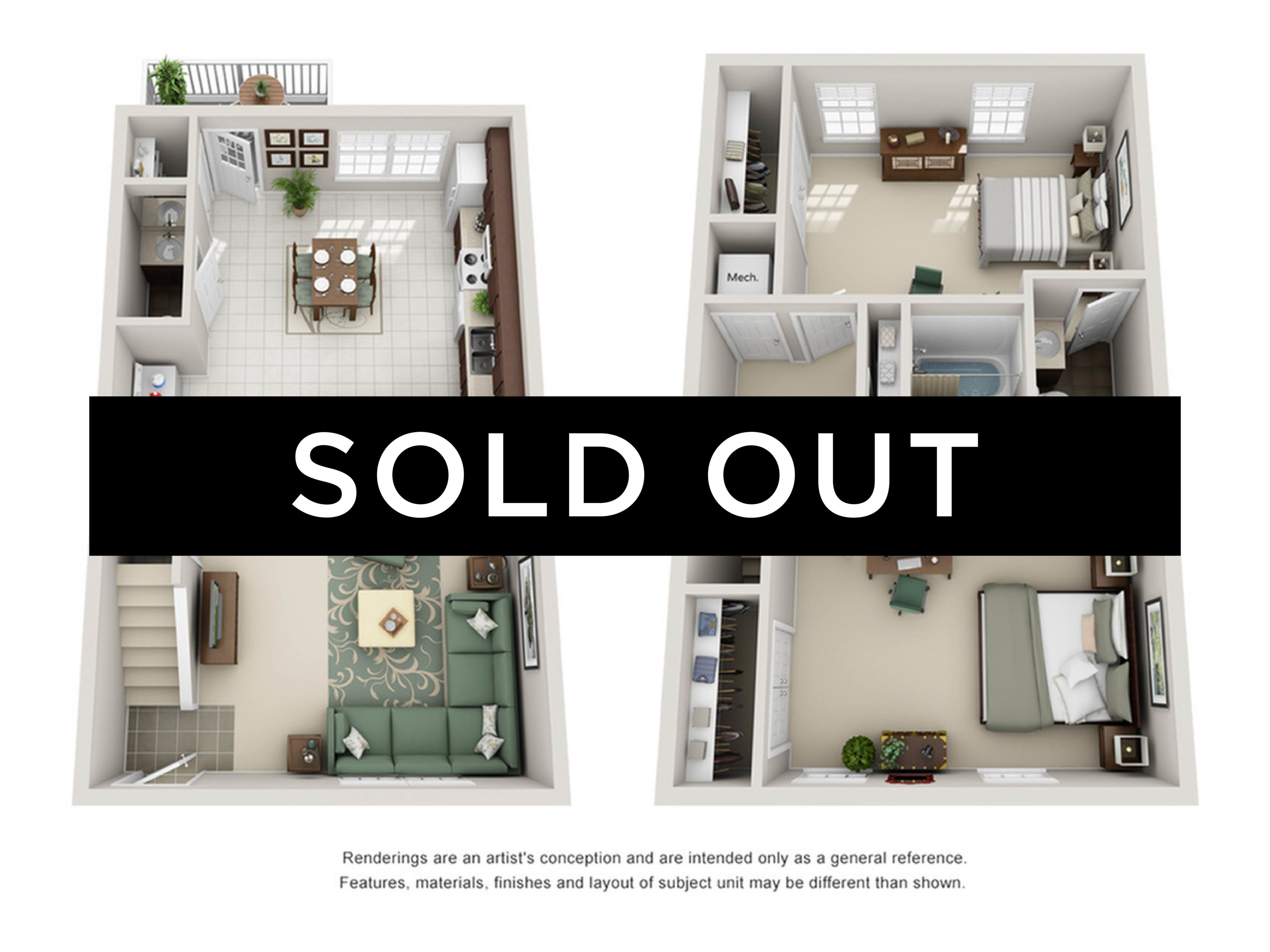 2BR/2.5BA -sold out