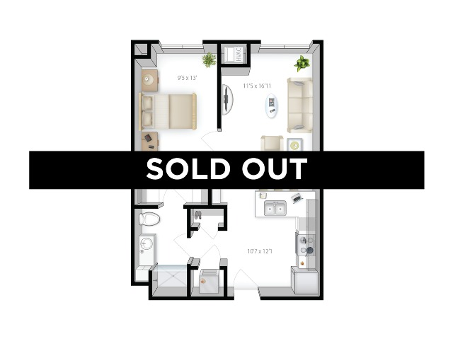 1BR/1BA - Tower 5