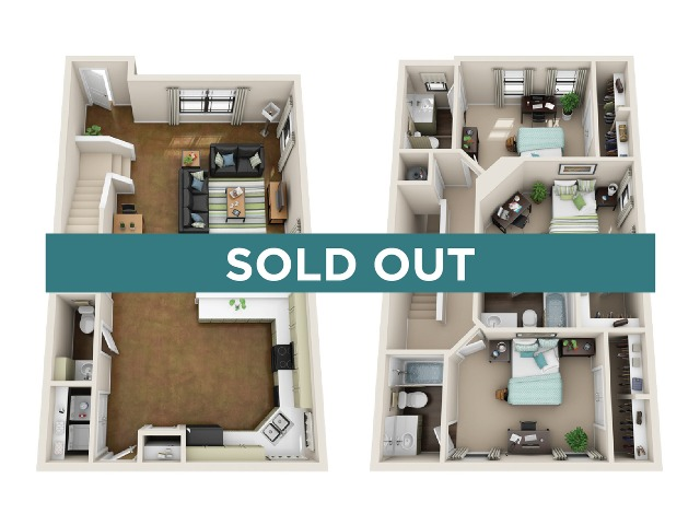 3x3.5 unfurnished - sold out