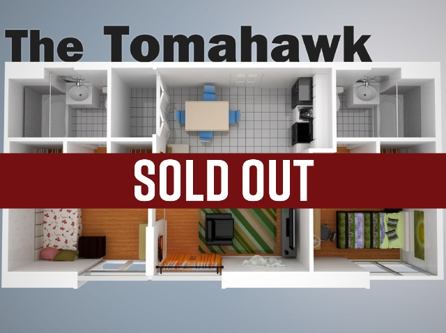 The Tomahawk 2 bedroom layout