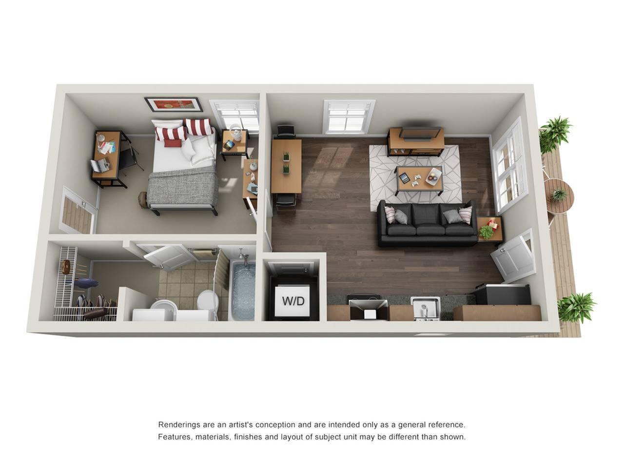1BR/1BA - Cottage Furnished