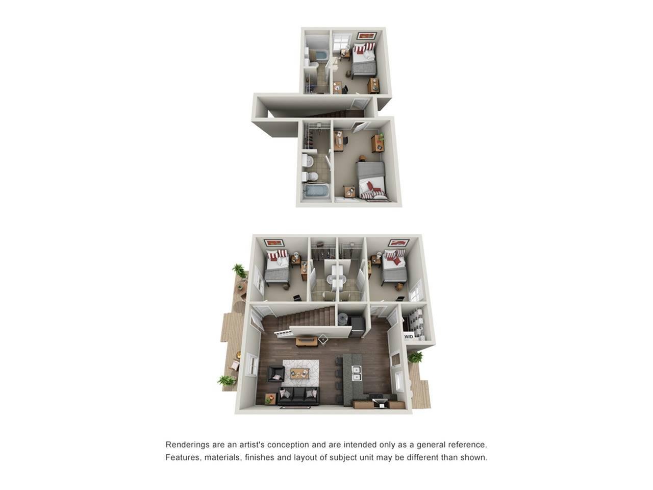 4BR/4BA - Cottage Unfurnished