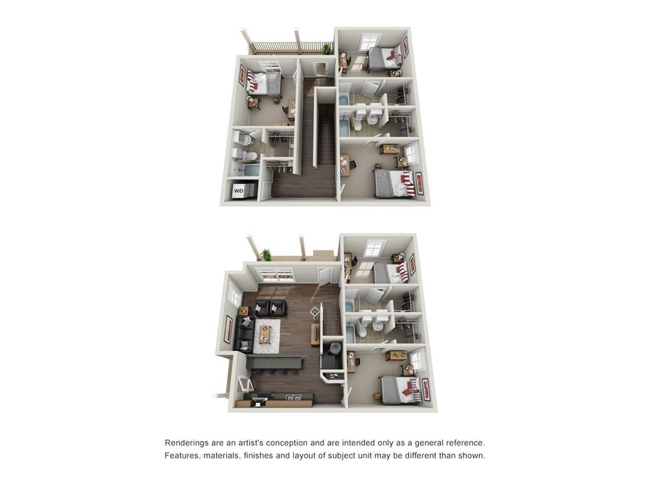5 x 5 Duplex Furnished
