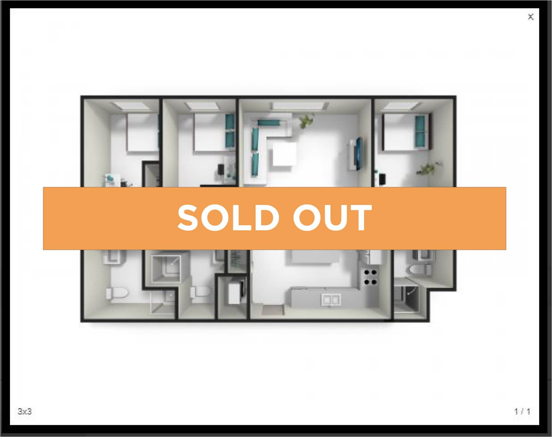 3 Bedroom 3 Bathroom - Sold Out