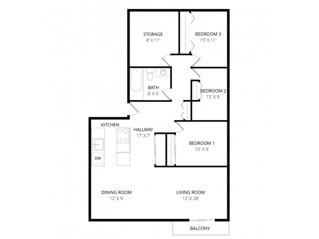 Current availability and pricing at Park Place South Apartments in ...