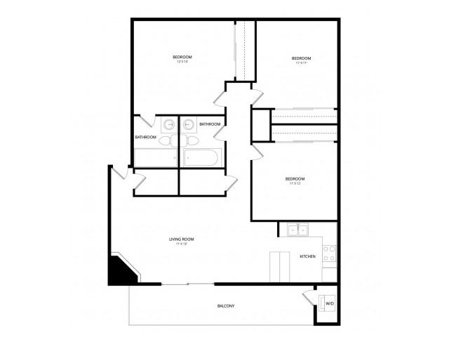 Enjoyable 3 Bed 2 Bath Apartment In Phoenix Az Accolade Apartment Interior Design Ideas Grebswwsoteloinfo