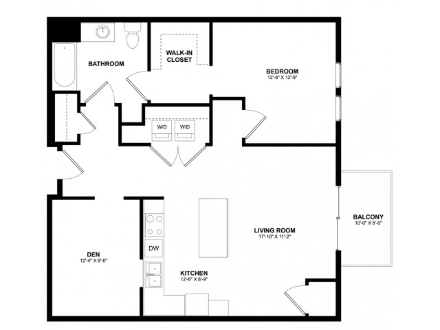 Covington 1 bedroom Den A