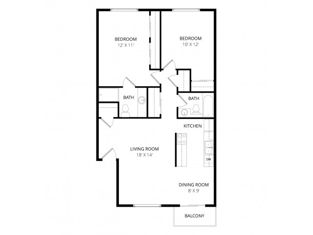 Current availability and pricing at Whispering Cedars Apartments in – Meyer May House Floor Plan