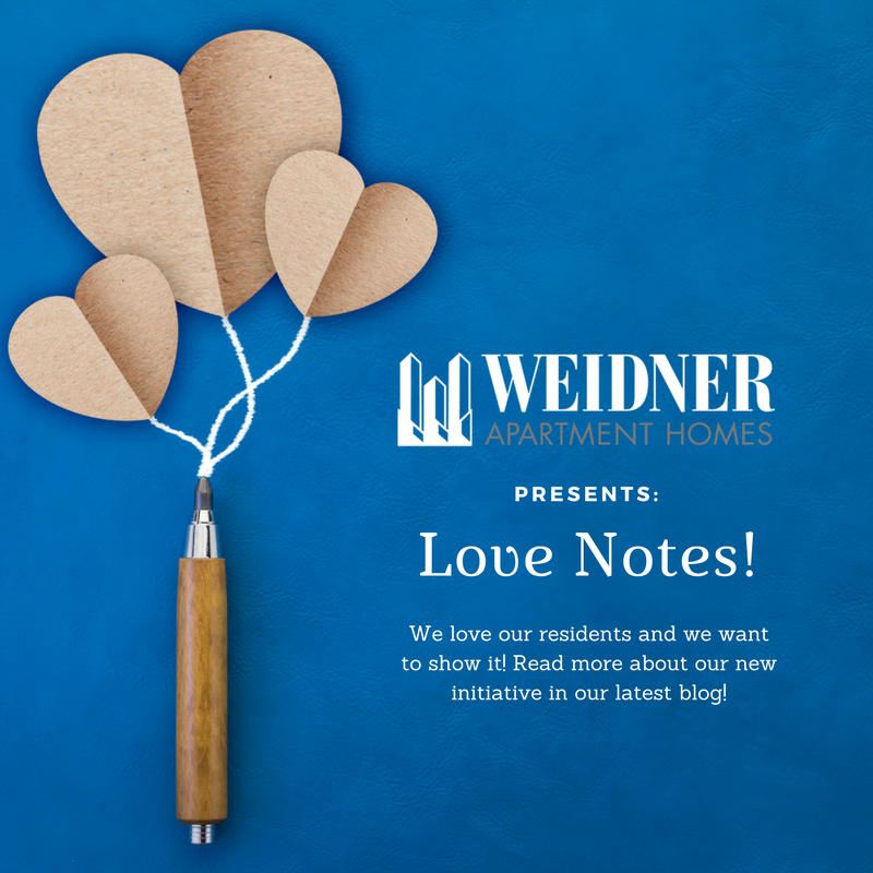 Weidner Embraces the Love with Love Notes!