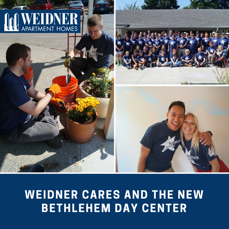 Weidner Cares Corporate Team and The New Bethlehem Day Center
