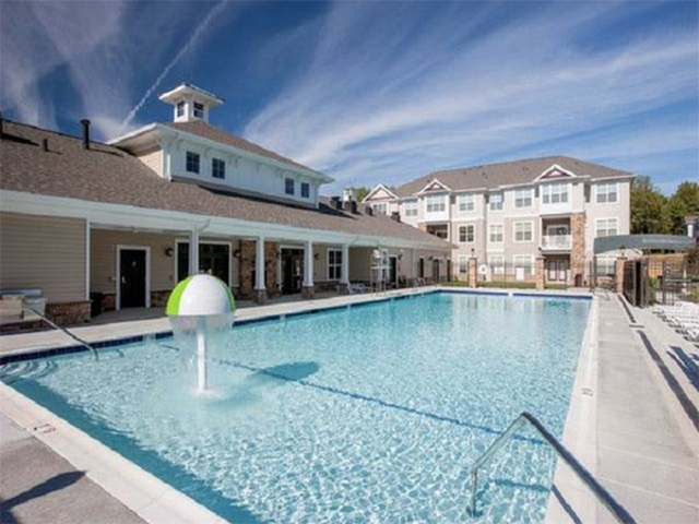 Image of Eco-friendly saltwater swimming pool for Riverside Apartments