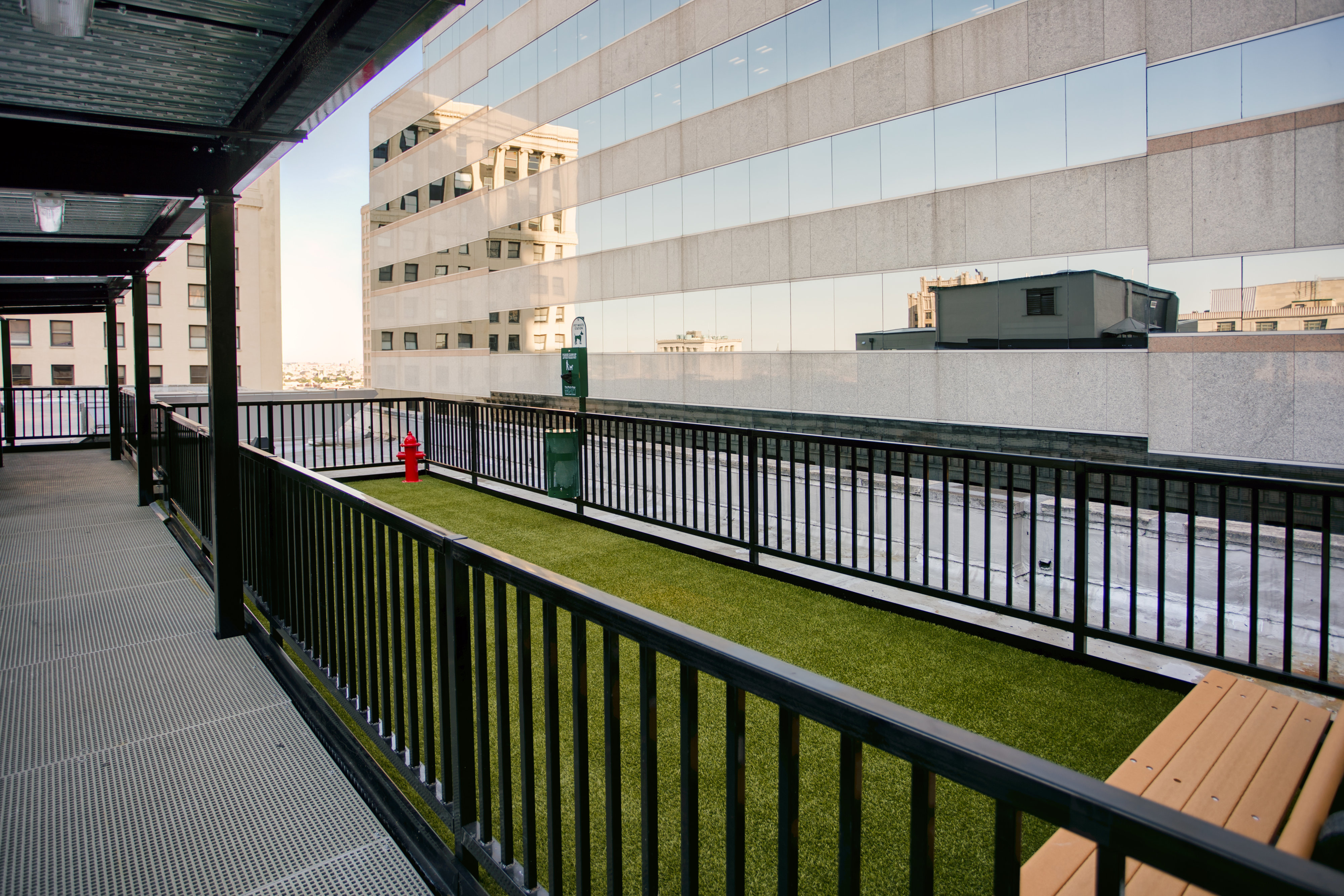 Image of Rooftop dog park for The Equitable Building
