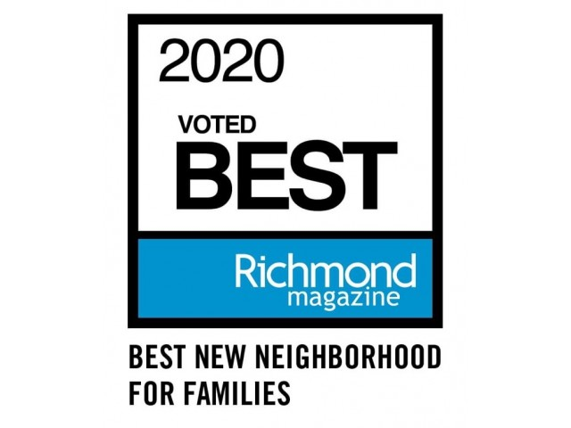 Voted 2020 Top New Neighborhoods for Families by Richmond Magazine