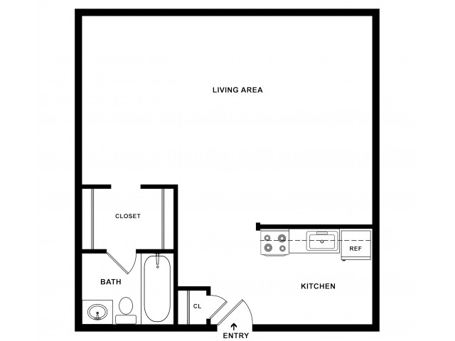 Studio Plus Floorplan