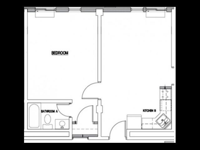 1 Bed / 1 Bath - A2