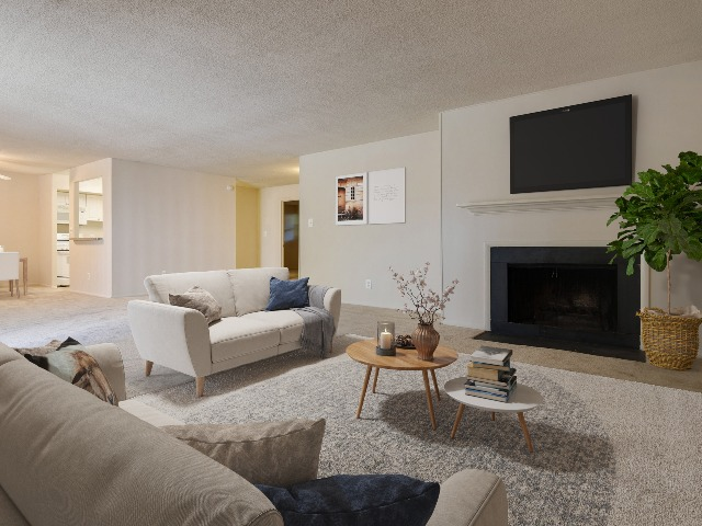 Fireplace Available in some Two Bedroom Apartments