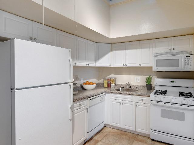 White top freezer refrigerator.